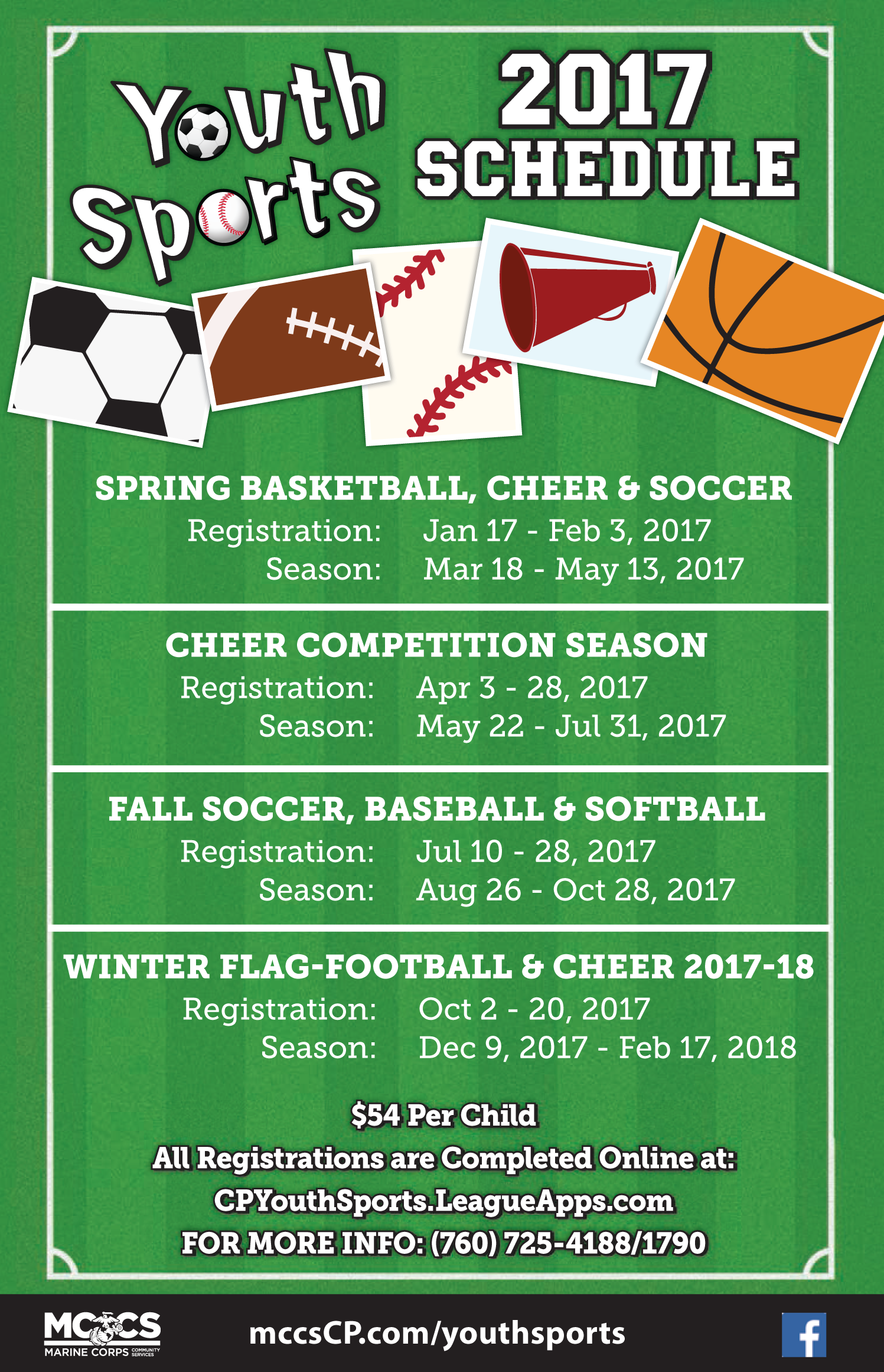 2017 Youth Sports Schedule