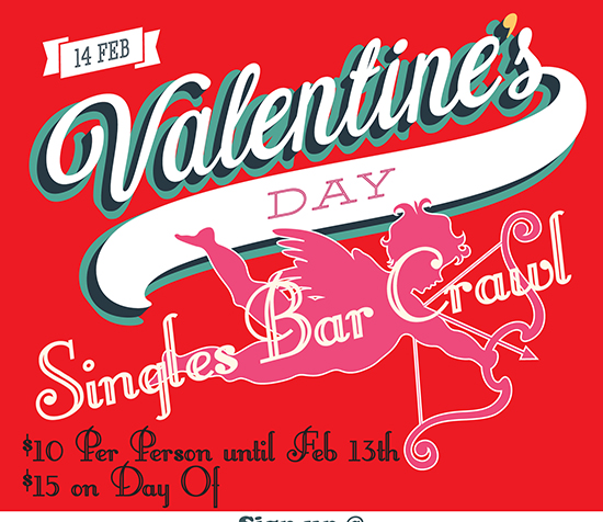 Valentine Day Bar Crawl 2015 Baltimore Social