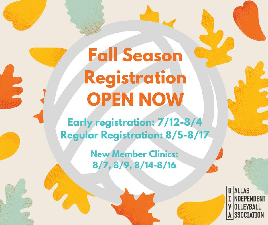 Register for Fall Season