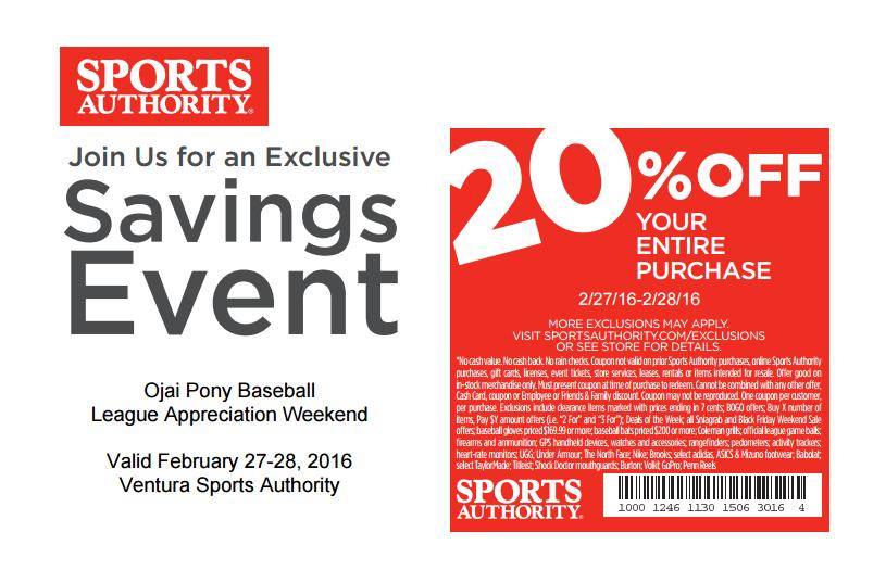 Sports Authority Ojai Pony Offer