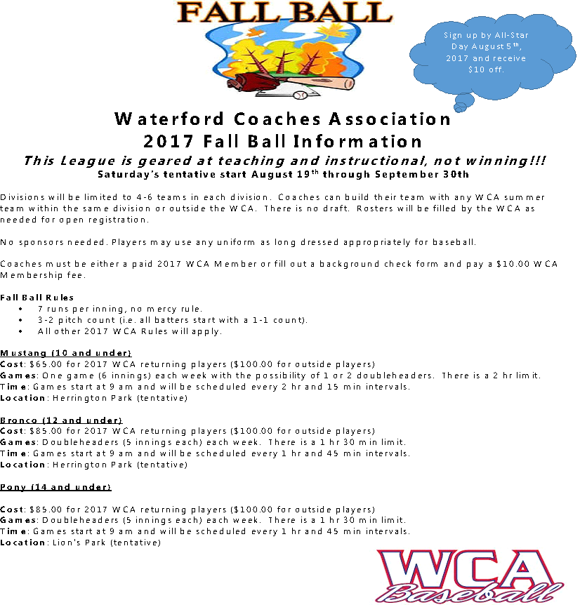 Fall Ball Registration