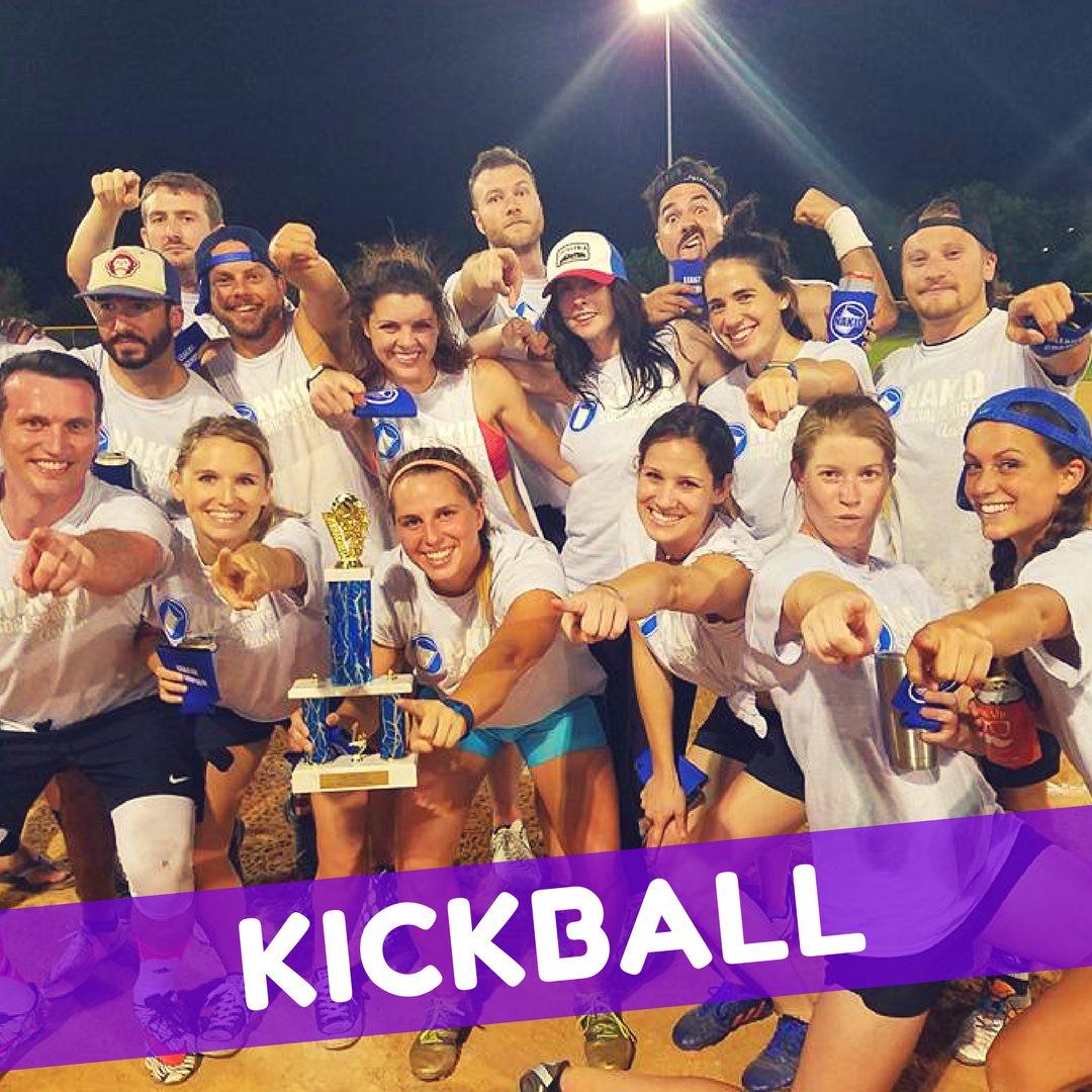Play Kickball and Volleyball in DC