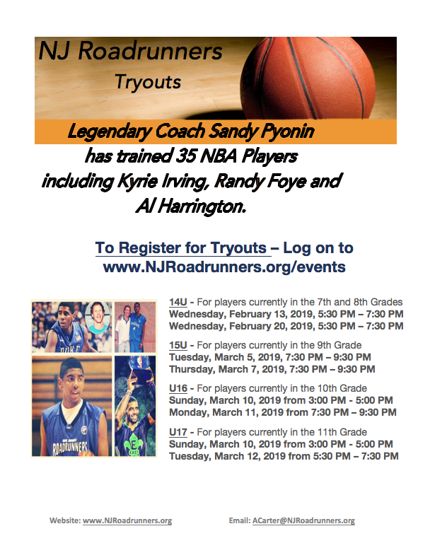 2019 REGISTRATION for TRYOUTS NOW OPEN