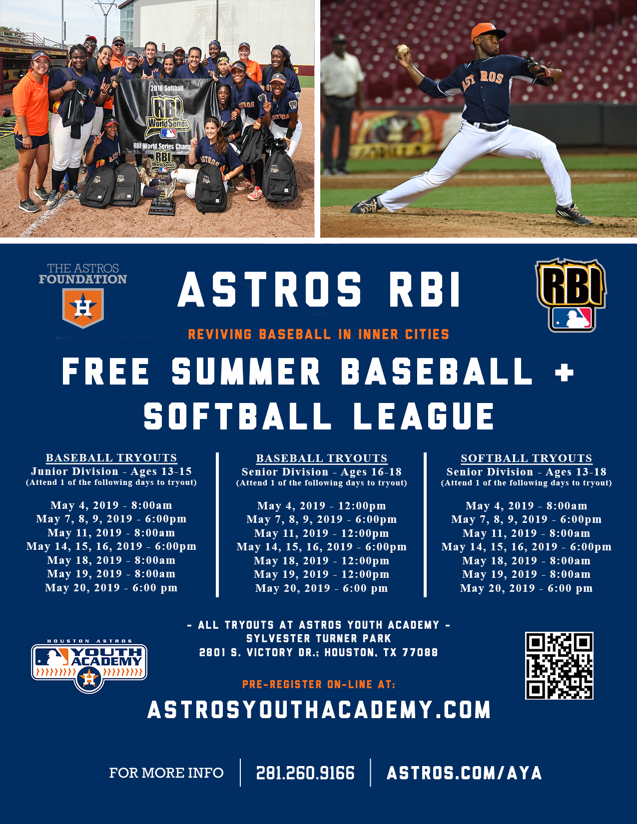 2019 Astros RBI Summer League At Sylvester Turner Park (Ages 13-18