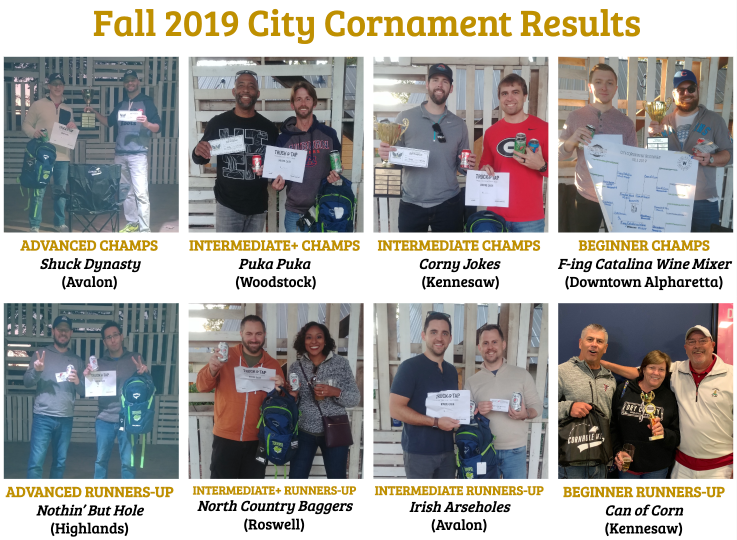 Congrats to our Fall City Champions!
