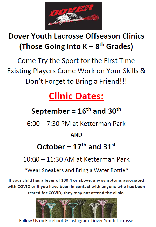 Click Here to download the Clinic Flyer
