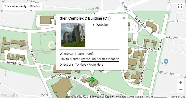 Location details for Towson University : LaMonica Sports