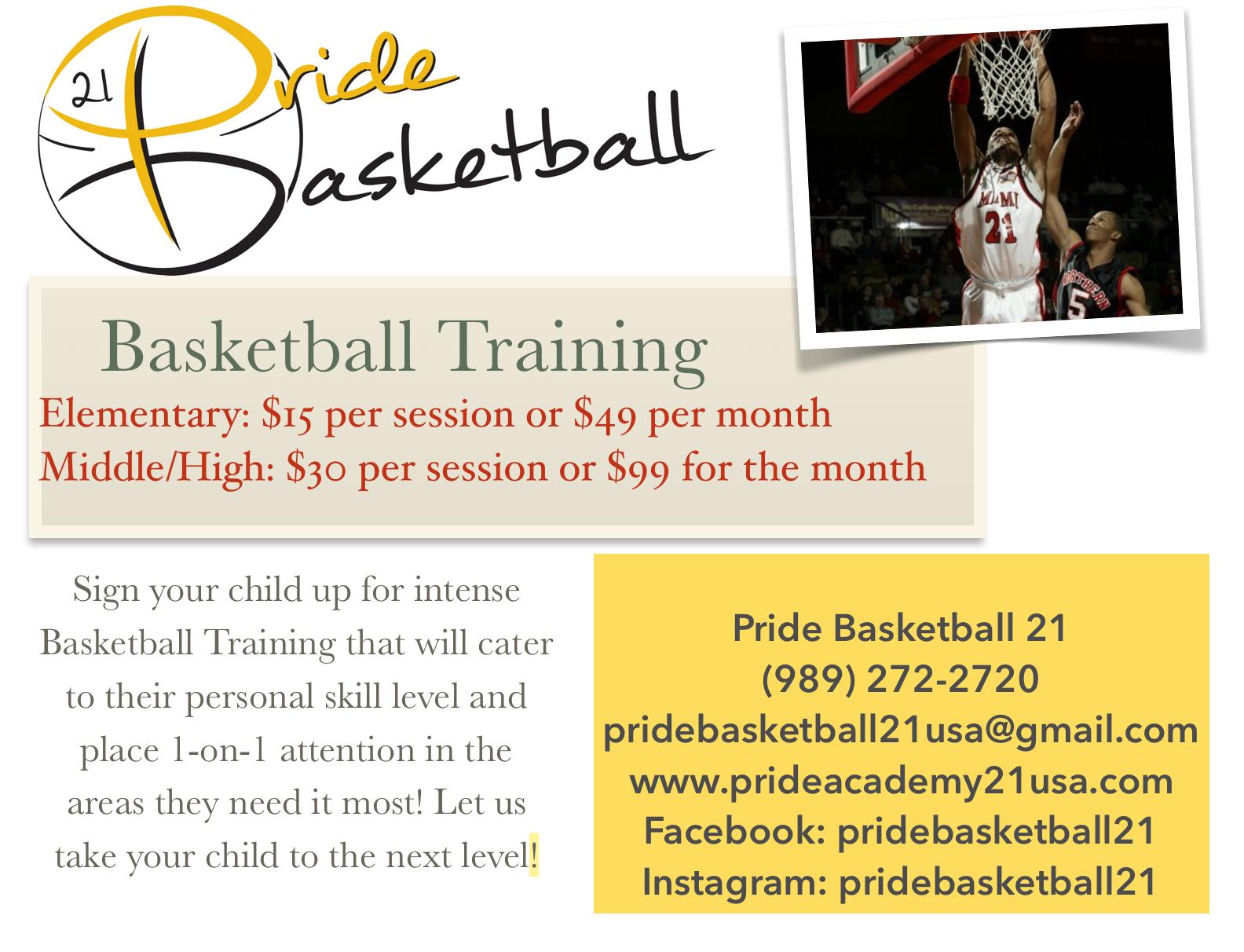 Pride Basketball Training