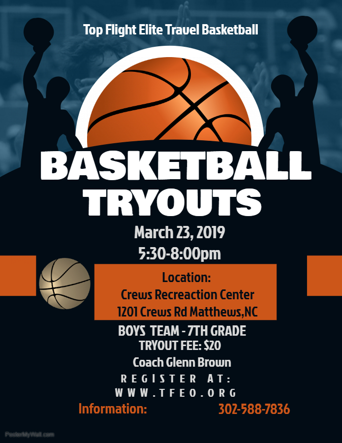 TFE-Charlotte (Matthews) Tryout Date for March 23rd