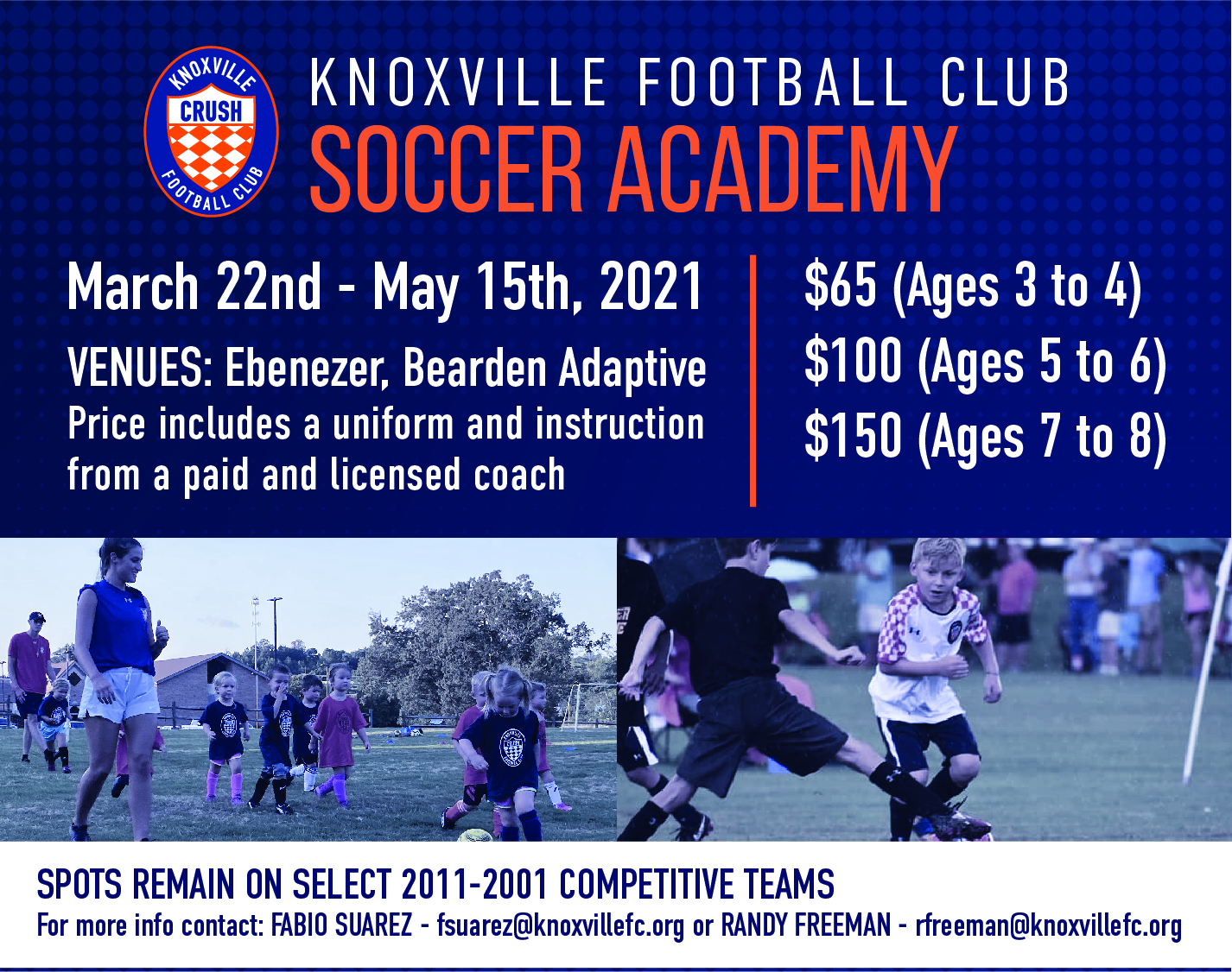 Spring 2021 Crush Academy Knoxville Football Club