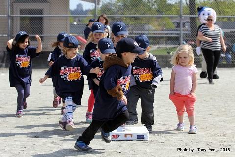 photo of kids playing baseball