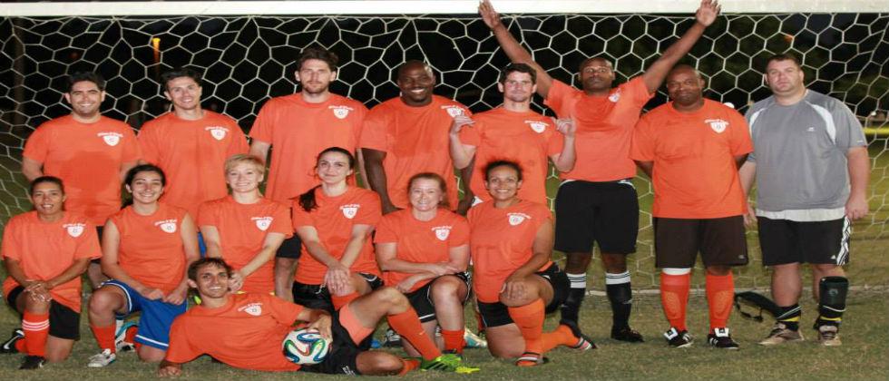 Co-Ed League Cleatwork Orange