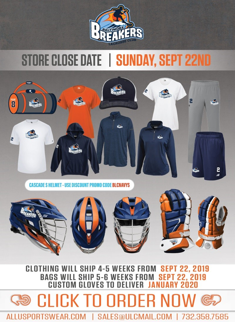 Breakers Team Store Fall 2019