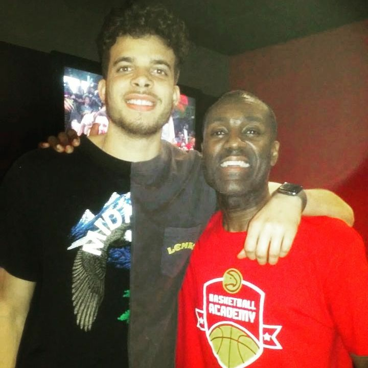 RJ Hunter with Coach Hykes