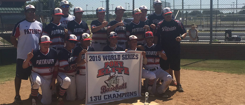 TC PATRIOTS win Pony Elite World Series 2015