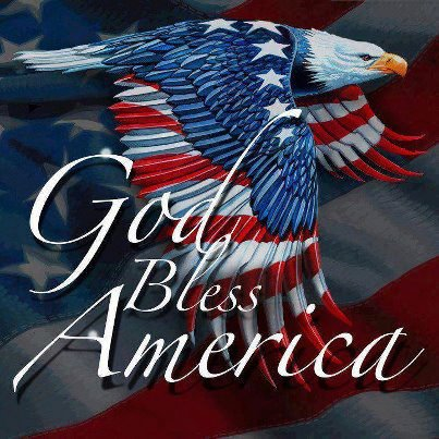 God Bless America.....Thank you for playing with the PATRIOTS!