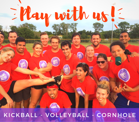 Play Kickball and Volleyball in Austin
