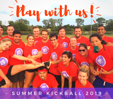 Play Kickball, Volleyball and Flag Football in Charlotte
